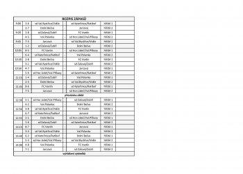 Foto č. 1- Informace k závěrečnému turnaji o přeborníka OFS Vsetín mladších žáků v Kateřinicích