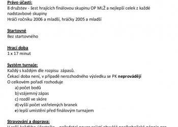 Foto č. 2- Informace k závěrečnému turnaji o přeborníka OFS Vsetín mladších žáků v Kateřinicích