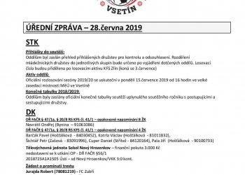 Foto č. 1- Informace OFS Vsetín - ÚZ, tabulky, přehled přihlášek a návrh skupin mládežníků