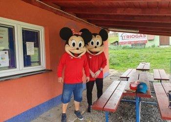 Foto č. 1- Natáčeli jsme s DeFib studiem Sportovní odpoledne s Mickey Mousem v Krhové