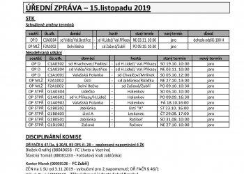Foto č. 1- ÚZ OFS Vsetín 15. 11. a termínová listina - jaro 2020