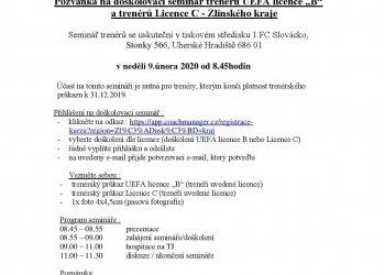 Foto č. 1- DOŠKOLENÍ TRENÉRŮ C licence a UEFA licence B