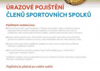 Foto č. 1- Úrazové pojištění členů sportovních spolků od 1. 2. 2019