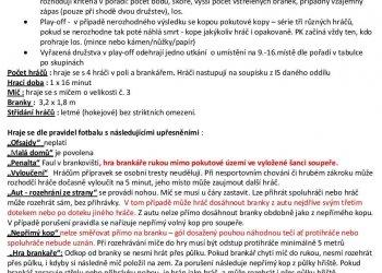 Foto č. 4- Informace k závěrečnému turnaji o přeborníka okresu mladších přípravek